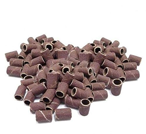 Vetrineinrete® Scovolini abrasivi 100 pezzi grana media ricambio fresa lima per unghie cilindri abrasivi per ricostruzione colata nail art M44
