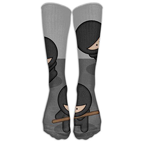LAKILAN Calcetines De Tubo,Ocasionales Calcetines Calcetines De Moda De Dibujos Animados Ninjas Spandex