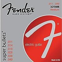 Fender エレキギター弦 Super Bullet® Strings, Nickel Plated Steel, Bullet End, 3250M .011-.049