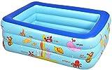 LYYJIAJU Piscina de Gran tamaño 1-4 Pueblos Piscina Inflable Resistente a la abrasión Espesada Interacción Familiar Fiesta acuática de Verano Piscina para niños Adultos
