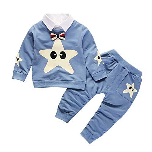 Gyratedream Baby Kleidung Set Junge Bekleidungssets Mädchen Trainingsanzüge Stern Muster T-Shirt Sweatshirt Langarmshirts + Hose 2Pcs Outfits für 0-4 Jahre Kinder