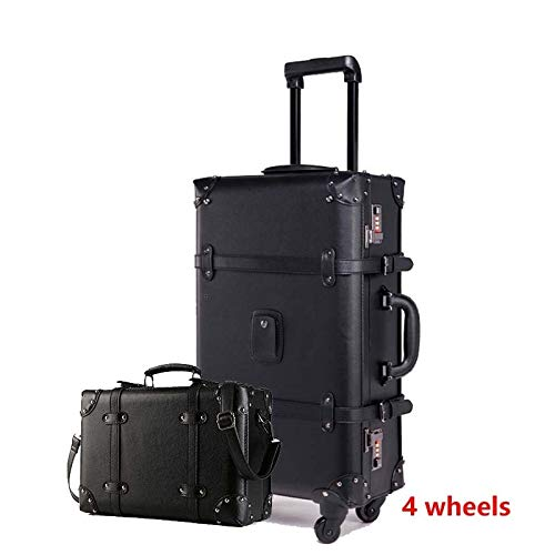 Neceser Mujer Retro del equipaje del balanceo Conjunto Spinner Mujeres contraseña de la carretilla 24 pulgadas llantas de 20 pulgadas maleta de la vendimia bolsa de viaje de la cabina del tronco