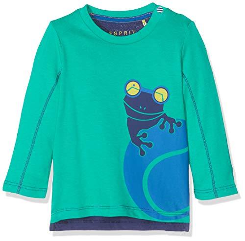 ESPRIT KIDS Baby-Jungen RP1002207 T-Shirt Long Sleeves Langarmshirt, Grün (Mid Green 541), (Herstellergröße: 68)