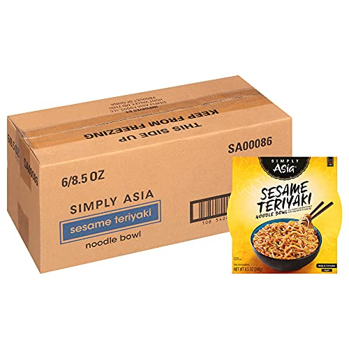 Simply Asia Sesame Teriyaki Noodle Bowl with Toasted Sesame Seeds, 8.5 oz (Pack of 6)