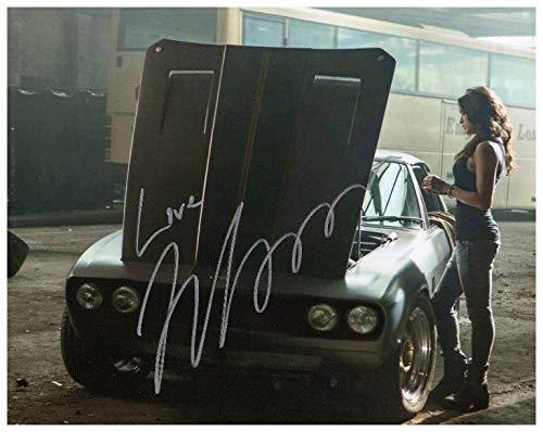 FM Michelle Rodriguez Signiert Autogramme 21cm x 29.7cm Plakat Foto