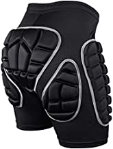 KUYOU Protection Hip,3D Padded Shorts for Ski Snowboard (M) Black