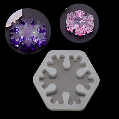 Moulds 3D Snowflake Silicone Mold Epoxy Resin Casting Jewelry DIY Craft Jewelry Tools