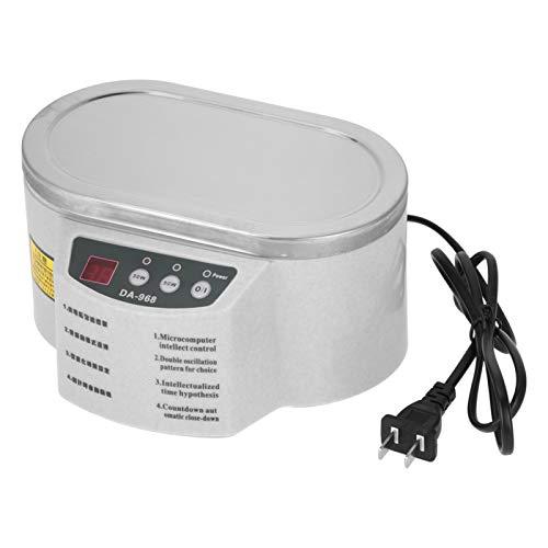 Plyisty Mini Ultraschallreiniger Sonic Tankmaschine 600ML 30/50W 40KHZ Ultraschallbad mit Reinigungskorb zum Reinigen von Gläsern, Kontaktlinsen, Jaden, Schmuck, Bürsten, Zahnersatzfehlern usw.