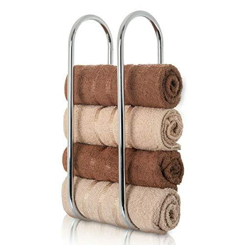 Schuldige Gadgets Wandgemonteerde Chrome Handdoek Houder Plank Badkamer Opslag Rail Zilver Toilet Rek