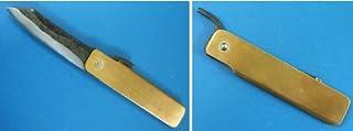 清玄作 肥後守型ナイフ 青紙鋼の鍛造割込 刃の形:普及型