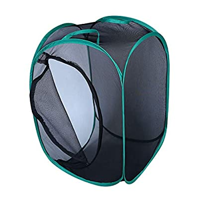 Qingo Collapsible Insect and Butterfly Habitat cage Terrarium Pop up Open - 23.6 Inches Tall
