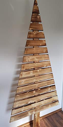 LiLu´s Märchengarne Holz Weihnachtsbaum 180cm Holzbaum Deko Objekt *handgemacht* geflammt weihnachtsdeko Holz