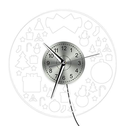 yaoyao wandklokken voor thuis 12 inch lichtgevende cijfers wandklok Silent Night Light Fashion gestanste niet tikkende klok quartz uurwerk Zaden Art Decor voor slaapkamer keuken woonkamer school geschenken