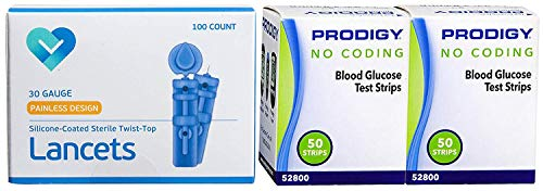 buy  Prodigy Blood Glucose Test Strips, 100 Count + 100 ... Blood Glucose Monitors