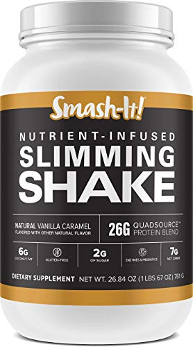 Primal Labs Smash-It! Nutrient Infused, Whey Protein Powder for Weight Loss Shake, Gluten-Free, Non-GMO, Chocolate, Strawberry, and Vanilla Protein Powder Flavors, 780 g per Container