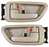 Eynpire 8076 Interior Front/Rear Left Driver Side & Right Passenger Side Pair Set Door Handle Beige for 2001-2007 Toyota Sequoia; 2004-2006 Toyota Tundra - Crew Cab ONLY