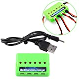 Lipo Battery Charger, 6 in 1 Multi-Function Charger Compatible with 3.7V Li-Po Battery Syma X5C Quadrotor Drone