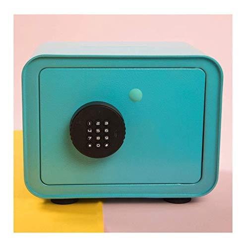 XHAEJ Hucha de bancos de dinero caja de contraseña, caja de almacenamiento resistente para adultos, caja de almacenamiento de llave de acero inoxidable Tres colores de gran capacidad hucha hucha