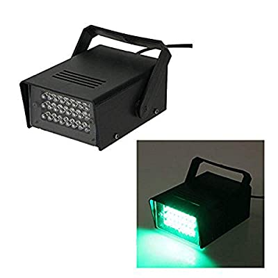 Enuoli Mini Strobe Light Green 24 LEDs Flash Lighting for Kids Children Birthday Christmas Clubs Stage Light Effect DJ Disco Bars Parties Halloween Strobe Lamp Bulb