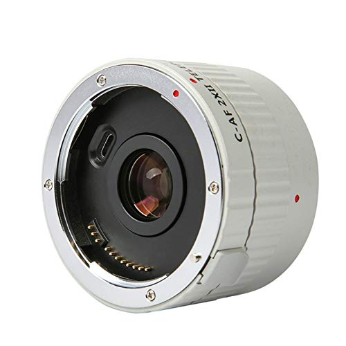 ZOPQOI Extensor Teleconverter, Lente de Montaje de Enfoque automático, for Lentes Canon EOS EF for Canon 5D II 7D 1200D 760D 750D Cámara (Bundle : Gray, Interface Type : Canon EF)
