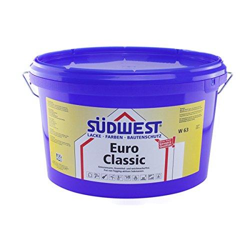 SÜDWEST Euro Classic W63 stumpfmatte Dispersionsfarbe, weiss 12,5L