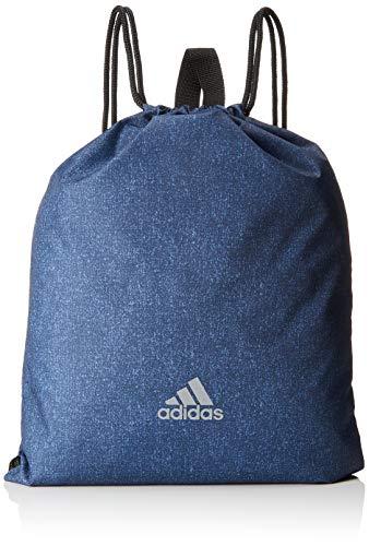 adidas Unisex-Erwachsene RUN GYM BAG Rucksack, Blau (Brebas/Negro/Reflect), 24x15x45 centimeters