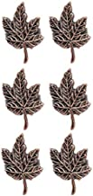 Shaheen Home Collections Antique Leaf Napkin Ring for Table Decoration - Set of 6 Antique Finish Serviette Rings for Harvest Season, Thanksgiving, Fall Decoration