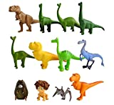 ELSANI TOPTAMP 12Pcs the Dinosaur cake topper Action Figure Toys Premium good Dinosaur Cake Toppers good Dinosaur cake decorations and Party Favors for Dinosaur party supplier birthday