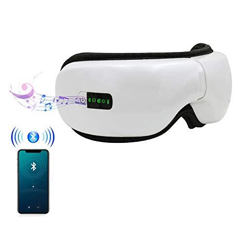 DAETNG Drahtloses faltbares wiederaufladbares Augenmassagegerät, intelligenter Modus, EIN-klick-Bedienung, Luftdruckvibration, Bluetooth-Musiktherapie, Stressabbau für die Augenpflege