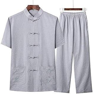 Tai Chi Clothing Martial Arts Uniforms Traditional Ancient Costume Martial Arts Clothing Tangzhuang Kung Fu Short-sleeved ...