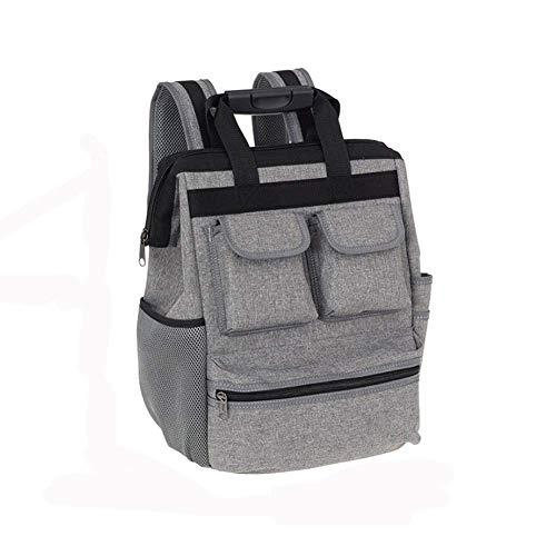 Tool Bag, Oxford Cloth Electrician Elevator Repair Belt Hardware Tool Storage Large Capacity Travel Shoulder Tool Backpack