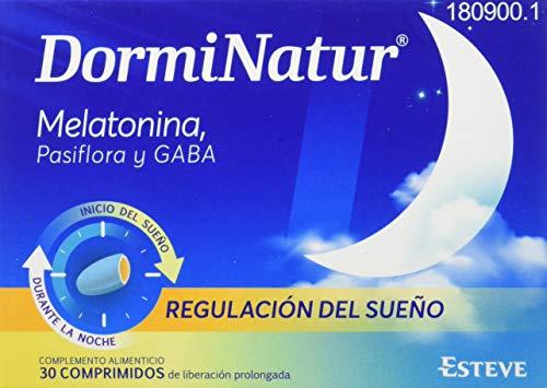 DORMINATUR COMPRIMIDOS. Complemento alimenticio con melatonina y pasiflora. 30 comprimidos. Regulación del sueño.