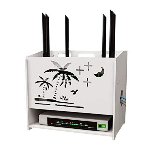 UNCTAD Pared Colgante WiFi Caja De Almacenamiento, No Desvanezcas, Antideslizante Y Resistente Al Desgaste, Biodegradable WiFi Caja De Almacenamiento De Router para Interior y Exterior