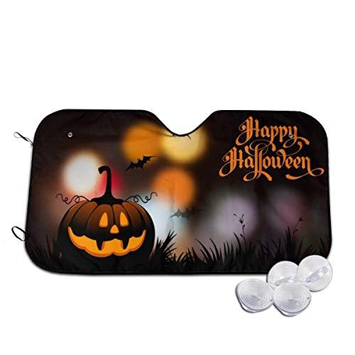 Opiadco Happy Halloween1 Auto Windschutzscheibe Sonnenschutz Faltbarer Sonnenschirm für Auto SUV Trucks Minivans Sonnenschutz Kühlt Fahrzeuginnenraum