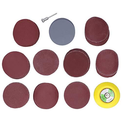 EXID 102 Uds discos de lijado discos de lijado de papel de lija, accesorios de lijadora eléctrica discos de hilo M6 + varilla de extensión redonda + papel de lija de 3 pulgadas