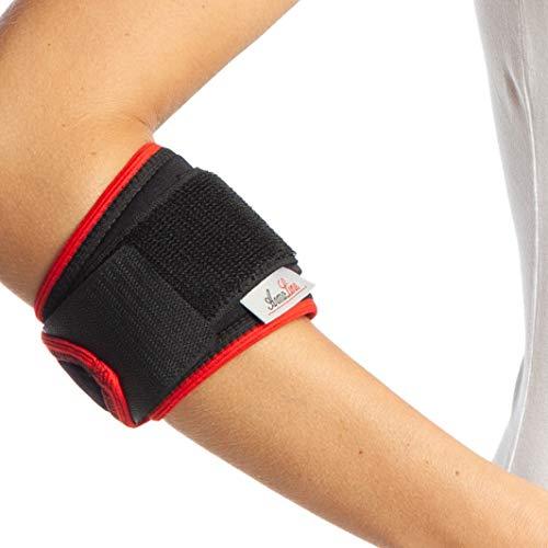 Codo de tenista soporte correa - talla para ambos brazos - Epicondilitis apoyo - ajustable neopreno venda de Epi