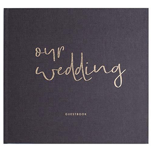 JO & JUDY Hochzeitsgästebuch Our Wedding - Fragen zum Ausfüllen - Hardcover Buch mit 92 Seiten und...