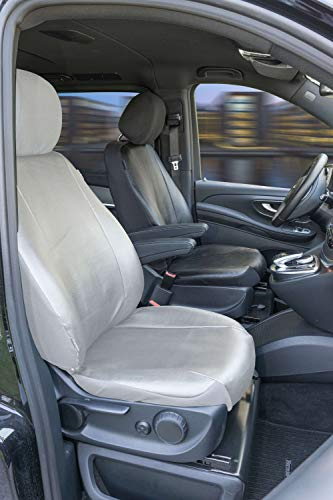 Funda de coche Walser 11529 Funda de transporte, funda de asiento de imitación de cuero antracita c