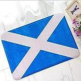 Felpudo Entrada impreso en 3d Alfombra de puerta con bandera de Escocia escocesa caliente, felpudo con bandera de Escocia, alfombra, entrada de suelo, regalo moderno para decoración del hogar-40X60CM