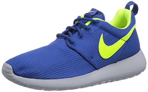 Nike Roshe Run 599728-407 Unisex-Kinder Laufschuhe Training Blau (Gym Blue/Volt-Wolf Grey) 38.5