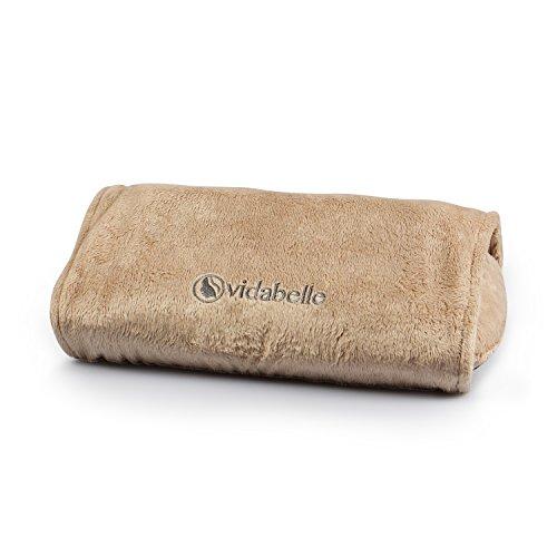 vidab Elle Cojín de masaje shiatsu de cuello en beige, certificado GS, revestimiento es lavable a máquina, con apagado automático