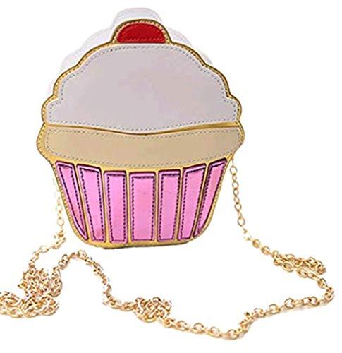 Toporchid Lustige Eiscreme-Kuchen-Tasche Kleine Crossbody Beutel Frauen Nette Geldbeutel -Handtaschen -Kette