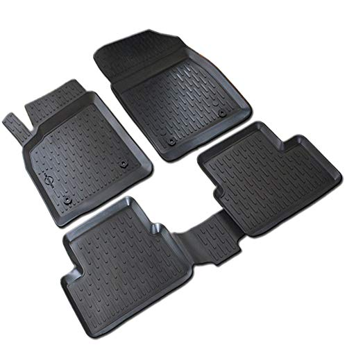 DNZ 3D Rubber Mats Car Floor Mats, Extra High Edge, Complete Set Rubber Suitable for VW Jetta 2010-2018