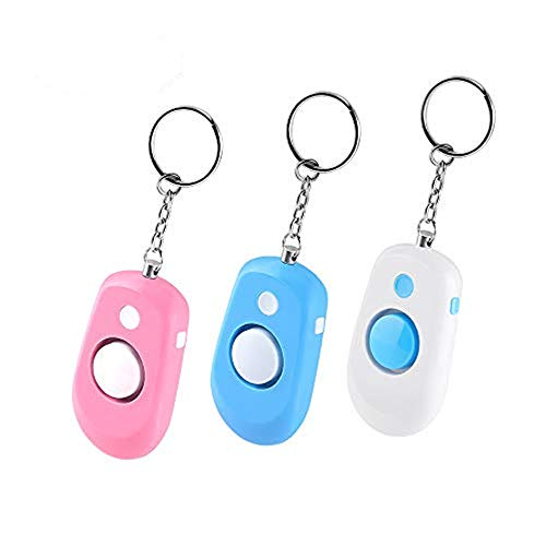 Safe Sound Personal Alarm, RIJAHO 3 Pack 130dB Safety and Self Defense Alarm Keychain for Women, Kids, Elderly