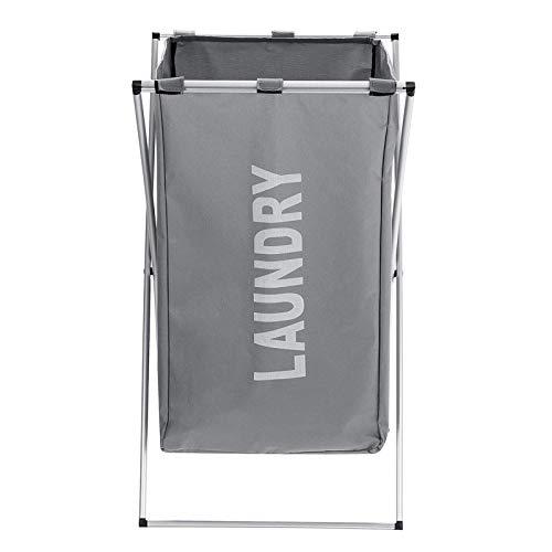 Madeinely Cesta para la colada con 3 rejillas plegables, para la ropa, cesta organizadora, cesta para la ropa (tamaño libre), color: D
