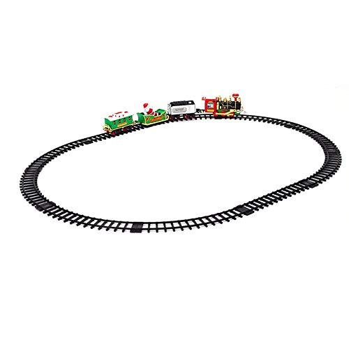 Nrpfell Luces y Sonidos de Navidad Tren Eléctrico Juguetes de Las Vías del Tren Bebé Juegos de Trenes en Casa para Regalo de Ni?os