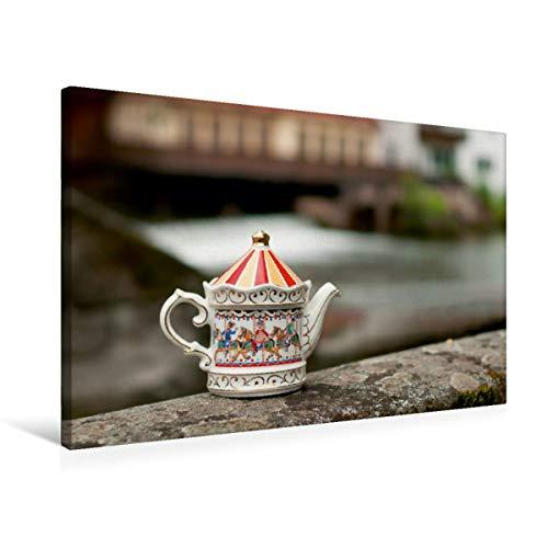 Calvendo Premium Textil-Leinwand 75 cm x 50 cm Quer, Teekanne von Sadler | Wandbild, Bild auf Keilrahmen, Fertigbild auf Echter Leinwand, Leinwanddruck: Auf auf rauschendes Wasser Lifestyle Lifestyle