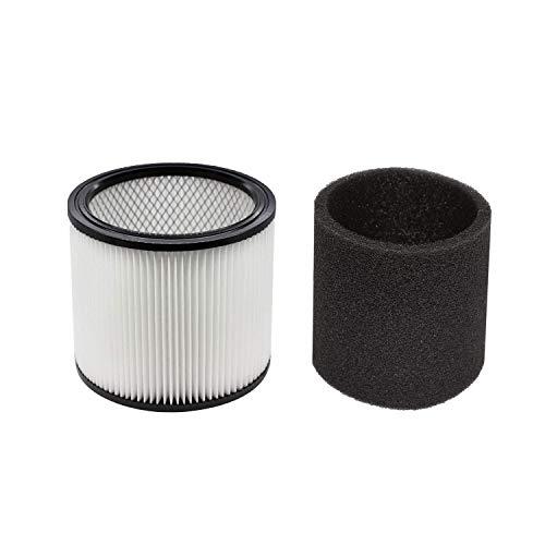 LAMASA Filtro de aspiradora para Shop Vac 9030400, 90304, 903-04-00 90350, para la mayoría de aspiradoras húmedas/secas de 5 galones y más.