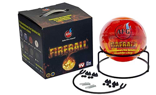 Fireball Automatic Fire Extinguisher Ball with Stand and Sign Traditional Design