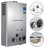 Scaldabagno A Gas Liquefatto Scaldabagno A Gas LPG Con Digitale LCD Scaldabagno Automatico E Rapidamente (18L)